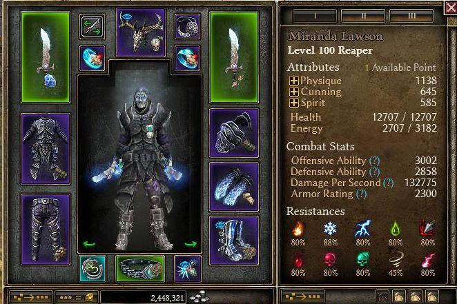 1 1 2 5] DW Chillstrifes cold Reaper Gladiator under 6 30,6 5 sec MQ