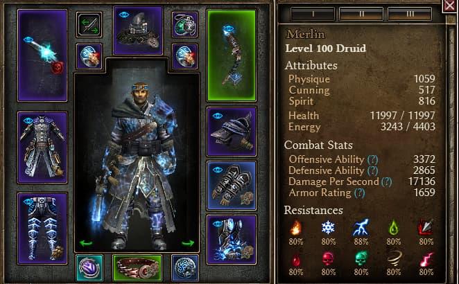 wind druid stats
