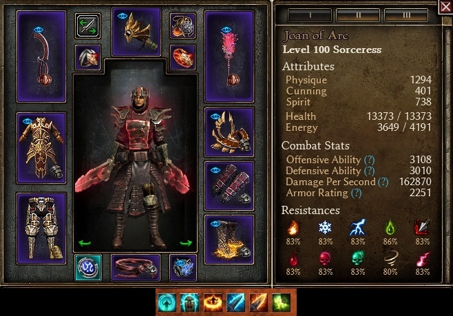 Heroes of Order and Chaos(HOC) Ingame build for Grey Witch ... |Chaos Witch Melee Build
